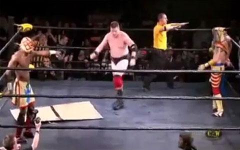 Abgefahrener Wrestling Move