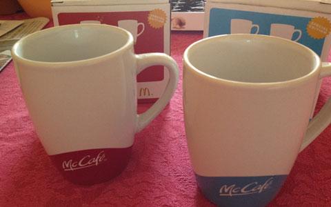 McDonalds McCafe Tassen