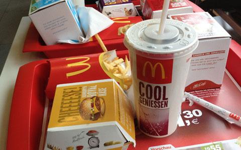 Mittagessen bei McDonalds